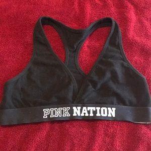 Pink minimum support cotton bra